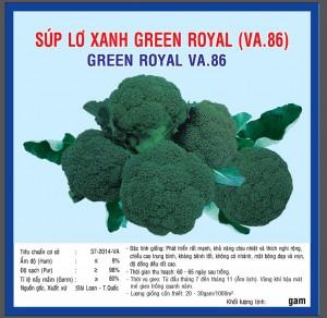 SÚP LƠ XANH GREEN ROYAL (VA86) 1G