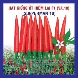 ỚT HIỂM LAI F1 SUPERMAN 5G (VA.18)