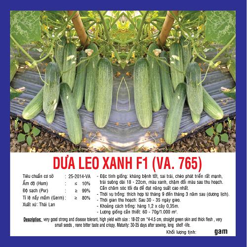 DƯA LEO XANH F1 (VA.765) 2G