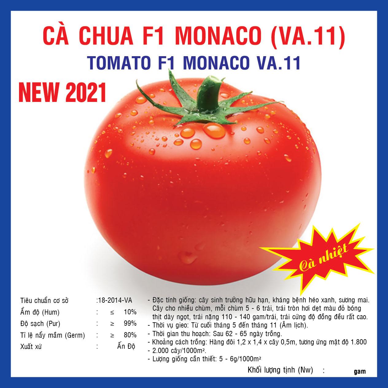 CÀ CHUA F1 MONACO (VA.11) 100 Hạt