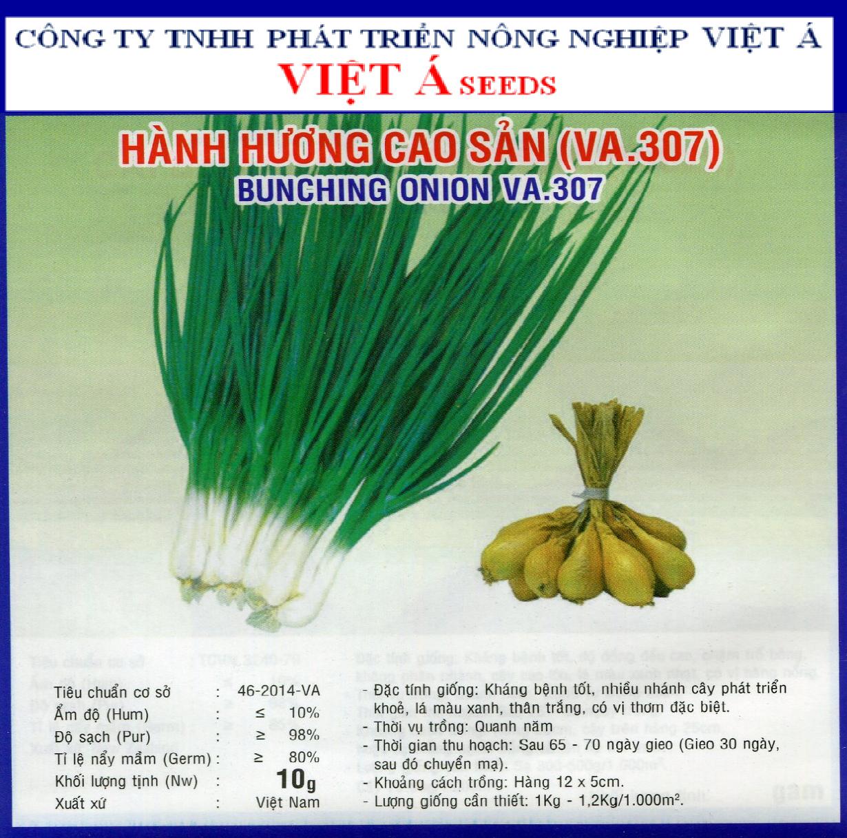 HÀNH HƯƠNG CAO SẢN (VA 307) 5GR
