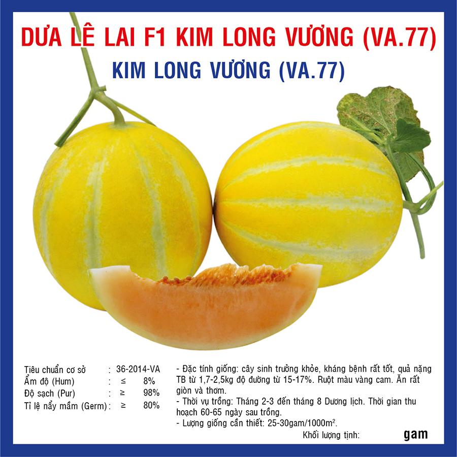 Dưa Lê Lai F1 Kim Long Vương (VA.77) 5gr